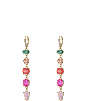 Betsey Johnson - Multi Stone Linear Earrings