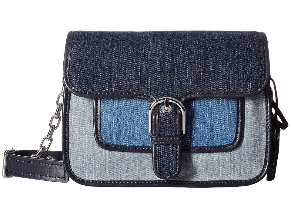 MICHAEL Michael Kors Cooper Medium Messenger (Indigo/Light Denim/Washed Denim) Messenger Bags