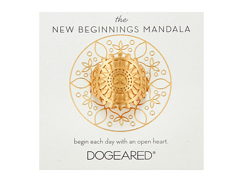 Dogeared New Beginnings Mandala Center Star Ring - Gold Dipped