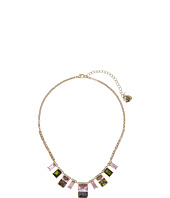 Betsey Johnson - Pink Tourmaline Frontal Necklace