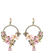 Betsey Johnson - Multi Flower Drama Gypsy Earrings