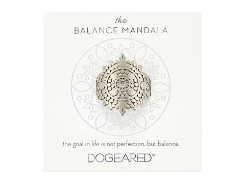 Dogeared Balance Mandala Center Circle Ring - Sterling Silver