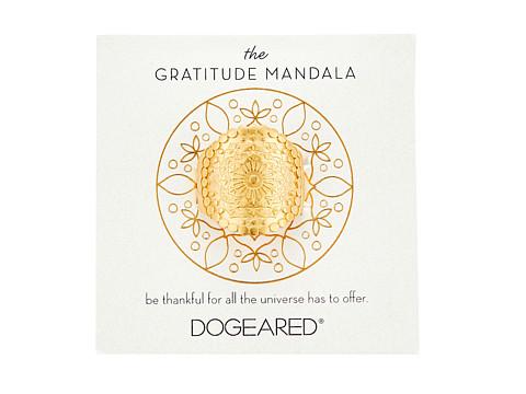 Dogeared Gratitude Mandala Center Flower Ring - Gold Dipped