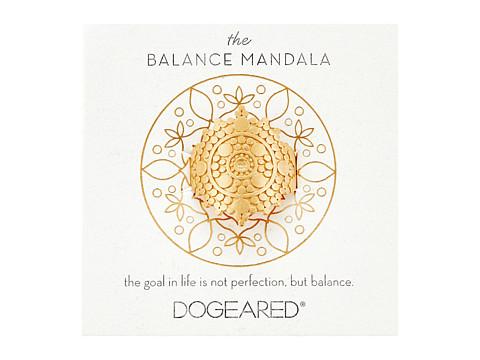 Dogeared Balance Mandala Center Circle Ring - Gold Dipped