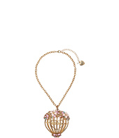 Betsey Johnson - Multi Flower Cage Pendant Necklace