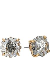 Betsey Johnson - Crystal/Gold Flower Stud Earrings