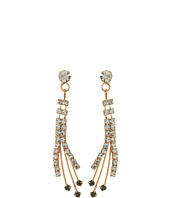 Betsey Johnson - Crystal/Gold Spray Forever Brilliant Earrings
