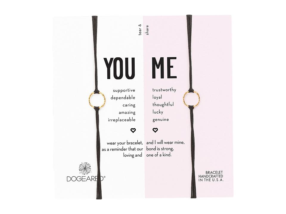 Dogeared Friendship Sparkle Ring Bracelet Set (Gold Dippe...