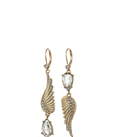 Betsey Johnson - Crystal/Gold Feather Earrings