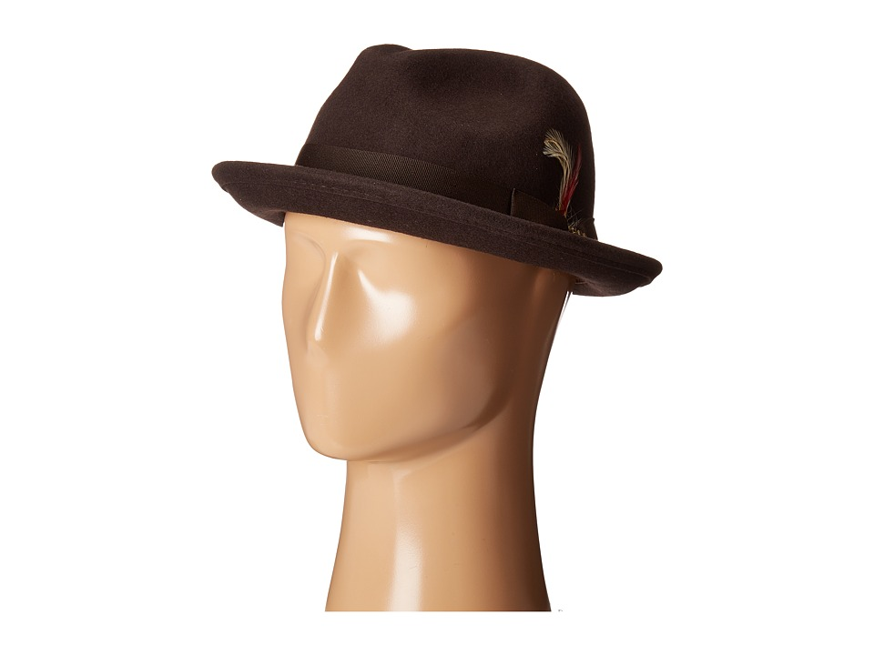 SCALA - All Season Snap Brim with Grosgrain Band (Chocolate) Traditional Hats