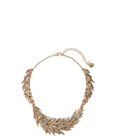 Betsey Johnson - Crystal/Gold Feather Collar Necklace