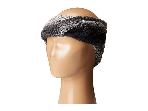 SCALA Faux Fur Headband - Black