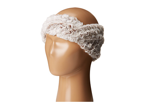 SCALA Faux Fur Headband - Ivory