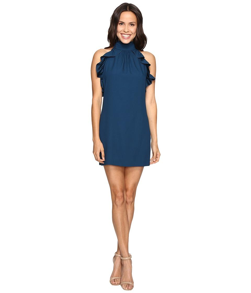 Rachel Zoe Eden Satin Back Crepe Dress (Dark Cobalt) Women