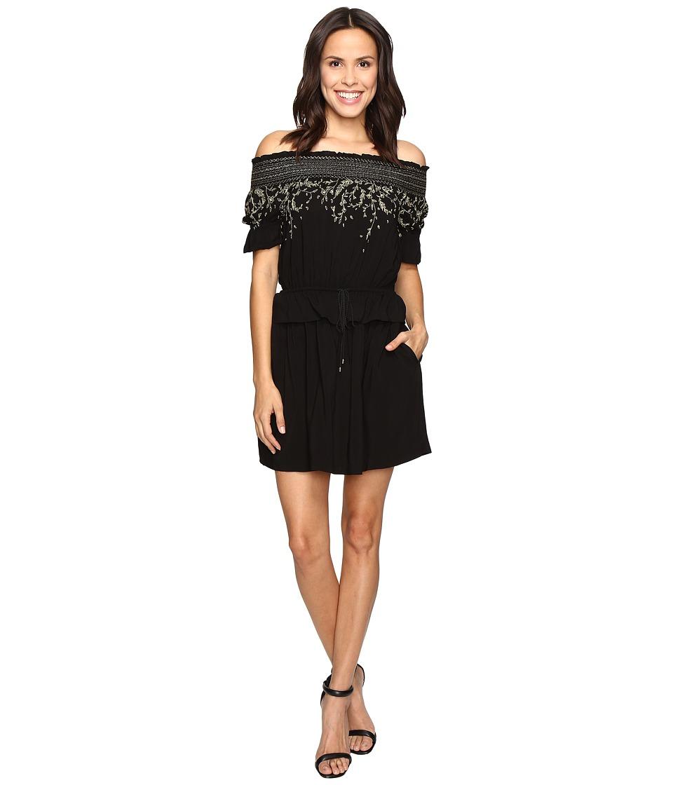Rachel Zoe Bethany Off the Shoulder Dress (Black) Women