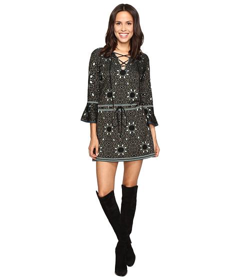 Rachel Zoe Tenley Jacquard Dress - Black/Turquoise