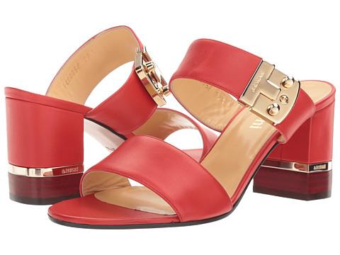 a. testoni Nappa Leather Buckle Strap Heel