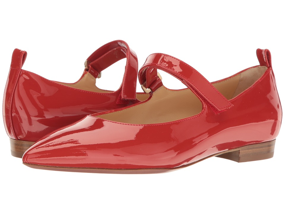 a. testoni - Pointed Toe Strapped Flat