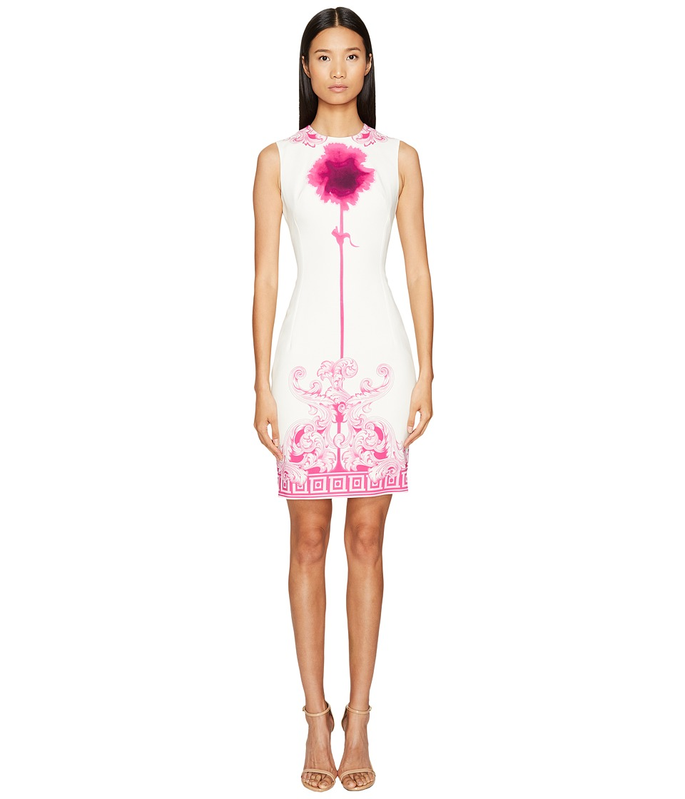 Versace Collection - Sleeveless High Neck Fitted Dress