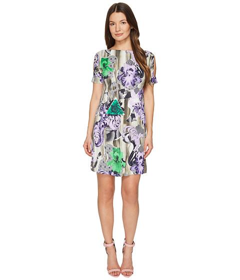 Versace Collection Jersey Short Sleeve Dress