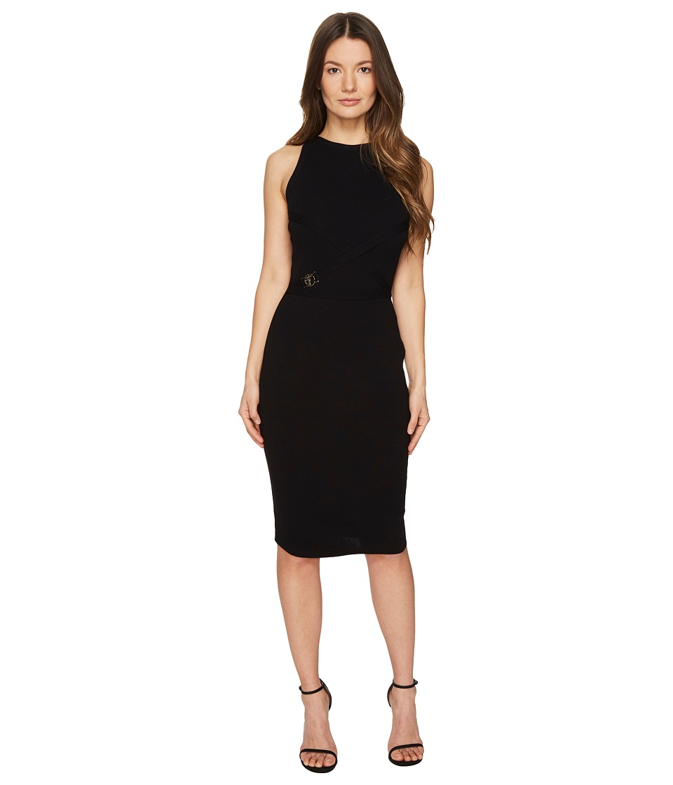 Versace Collection High Neck Sleeveless Knit Dress (Nero) Women