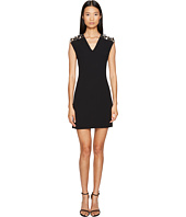 Versace Collection - Woven Jeweled V-Neck Dress