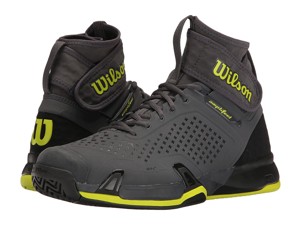 Wilson - Amplifeel (Ebony/Black/Lime) Mens Tennis Shoes