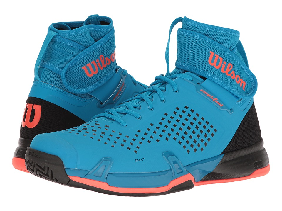 Wilson - Amplifeel (Methyl Blue/Black/Fiery Coral) Mens Tennis Shoes