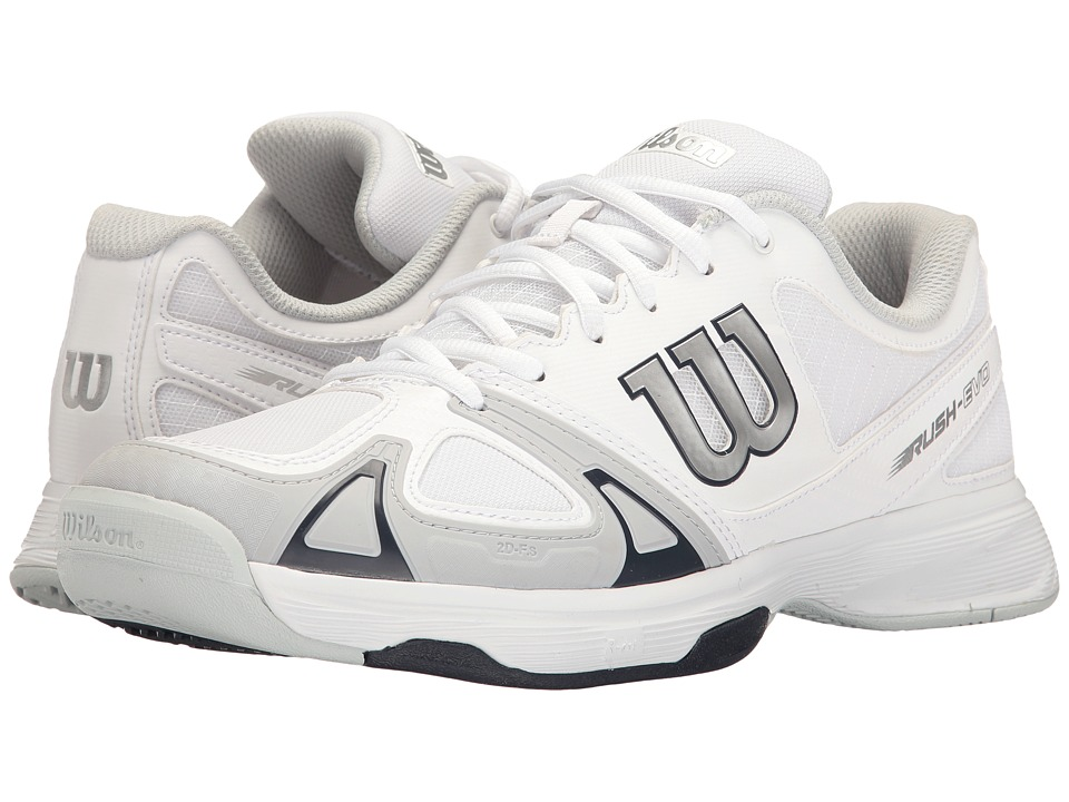 Wilson - Rush Evo (White/Peral Blue/Stonewash) Mens Tennis Shoes