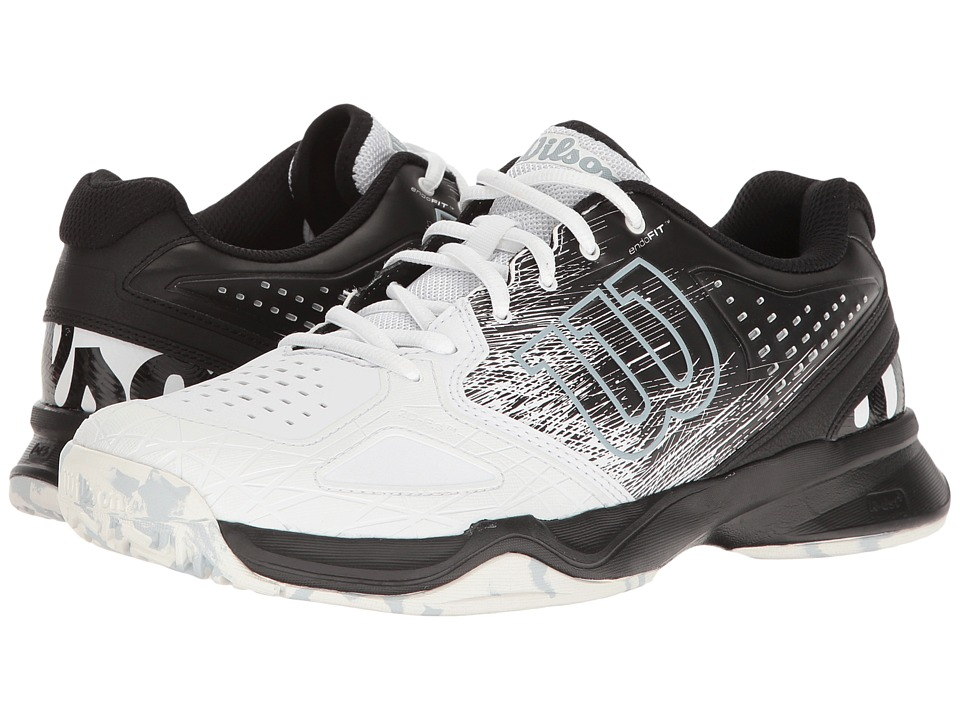 Wilson - Kaos Comp (Black/White/Pearl Blue) Mens Tennis Shoes