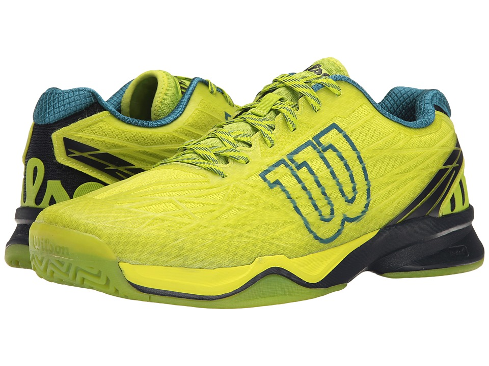 Wilson Kaos (Lime Punch/Navy/Blue Coral) Men's Tennis Shoes
