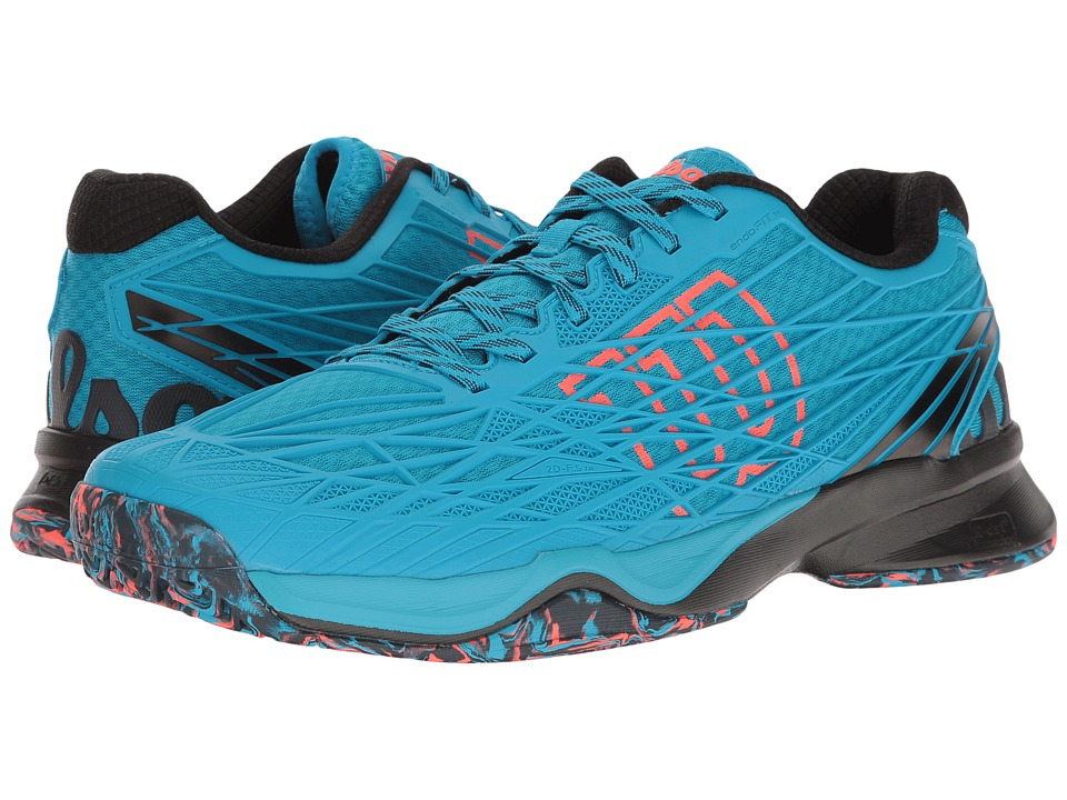 Wilson - Kaos (Hawaiian Ocean/Black/Fiery Coal) Mens Tennis Shoes