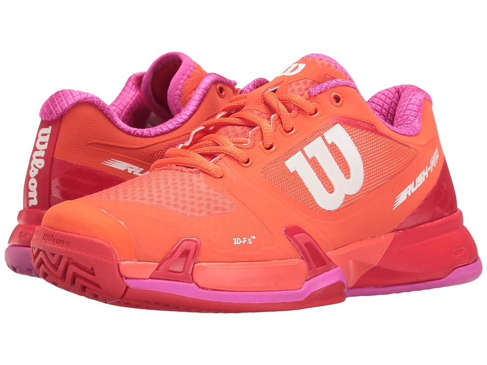 Wilson - Rush Pro 2.5 (Nasturtium/Fiery Red/Rose Violet) Womens Tennis Shoes