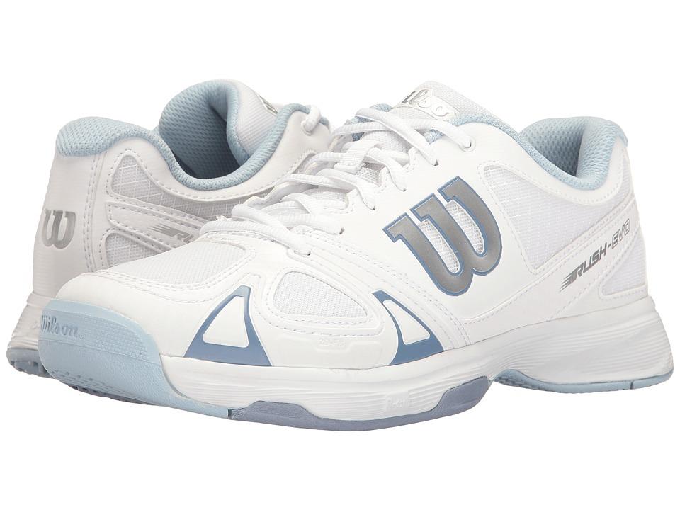 Wilson - Rush Evo (White/White/Stonewash) Womens Tennis Shoes