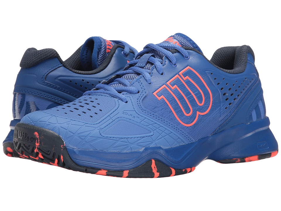 Wilson - Kaos Comp (Amparo Blue/Surf the Web/Fiery Coal) Womens Tennis Shoes