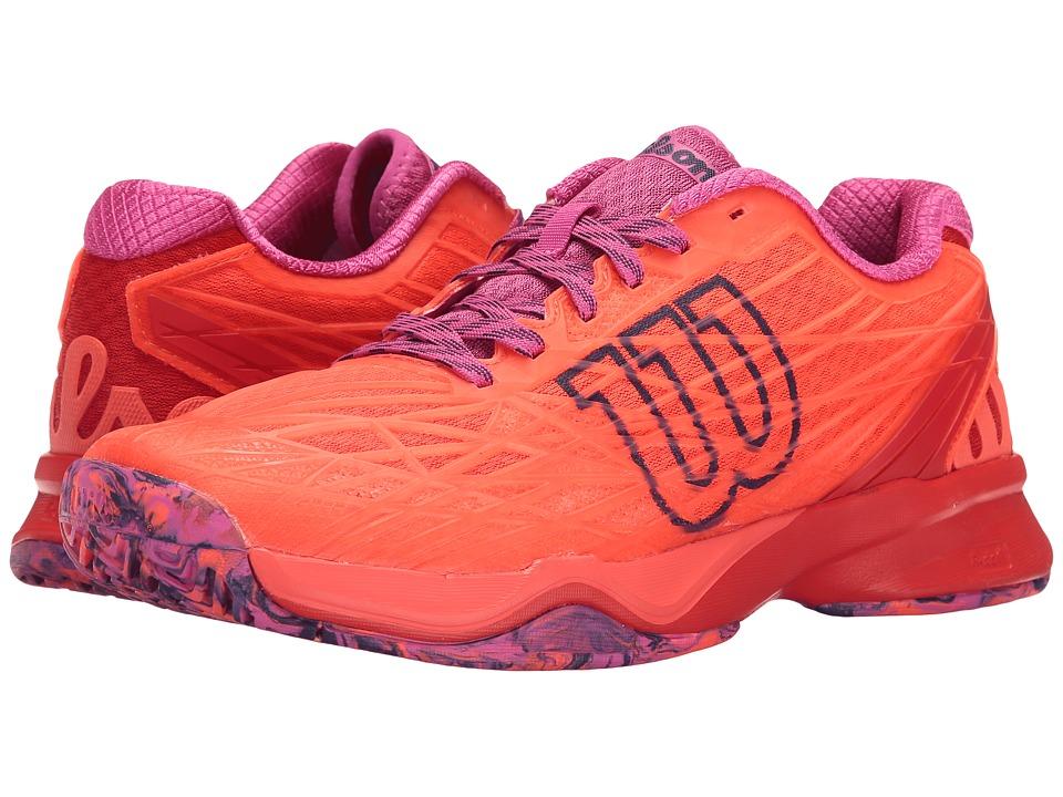 Wilson - Kaos (Fiery Coal/Fiery Red/Rose) Womens Tennis Shoes