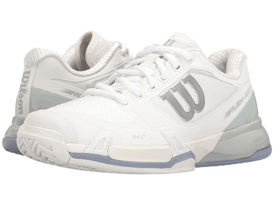 Wilson - Rush Pro 2.5 (White/Peral Blue/Stonewash) Womens Tennis Shoes
