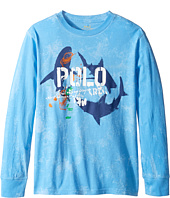 Polo Ralph Lauren Kids - Long Sleeve Basic Jersey Tee (Big Kids)