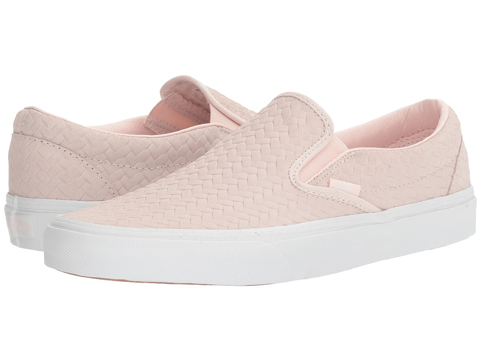 Vans Classic Slip-On ((Embossed Woven Suede) Rose Water) Skate Shoes