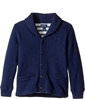 Polo Ralph Lauren Kids - Long Sleeve Slub Fleece Shawl Collar Top (Little Kids/Big Kids)
