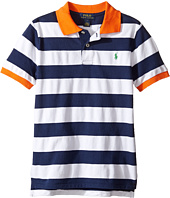 Polo Ralph Lauren Kids - Yarn-Dyed Mesh Stripe Polo Top (Little Kids/Big Kids)