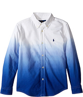 Polo Ralph Lauren Kids - Long Sleeve Oxford Dip-Dye Top (Little Kids/Big Kids)