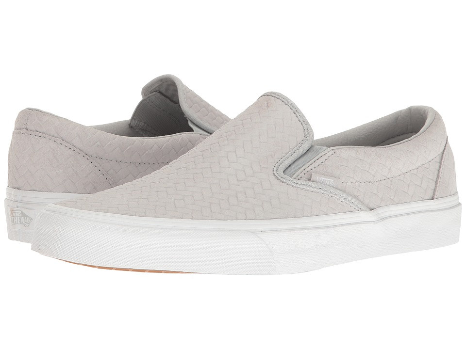 Vans Classic Slip-On ((Embossed Woven Suede) Microchip) Skate Shoes