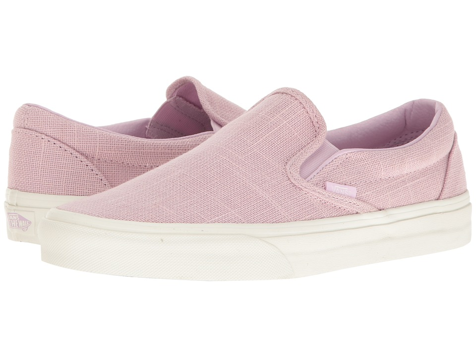 Vans Classic Slip-On ((Hemp Linen) Windsome Orchid) Skate Shoes