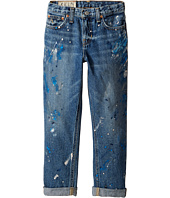 Polo Ralph Lauren Kids - Denim Paint Splat Five-Pocket Jeans in Michael Wash (Little Kids/Big Kids)