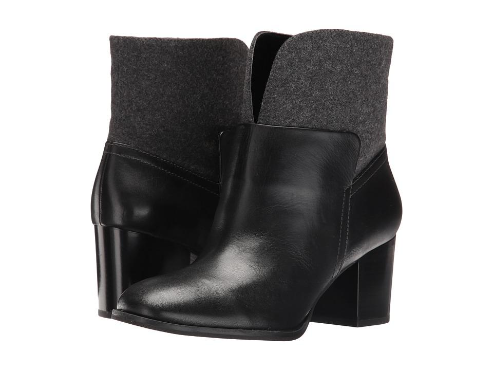 Nine West - Dale (Black/Pewter Leather) Women