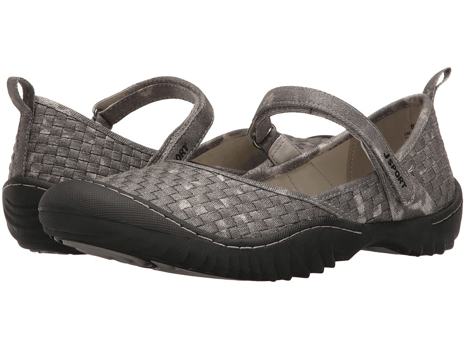 JBU - Cara (Gunmetal Woven Fabric) Womens Shoes