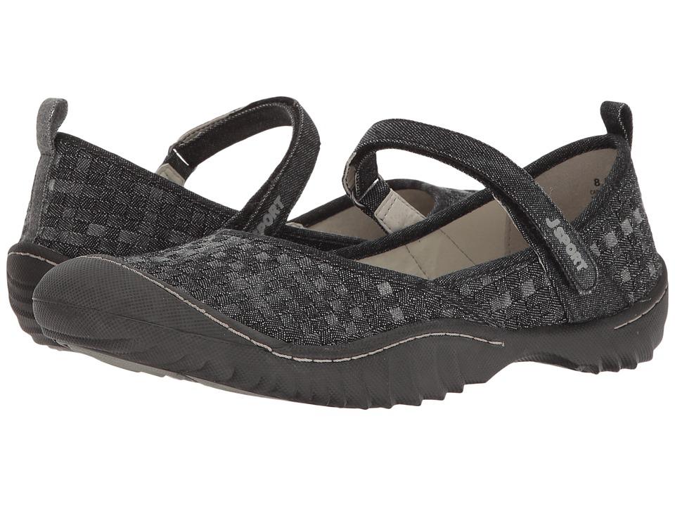 JBU Cara (Black Elastic/Vegan) Women's Shoes