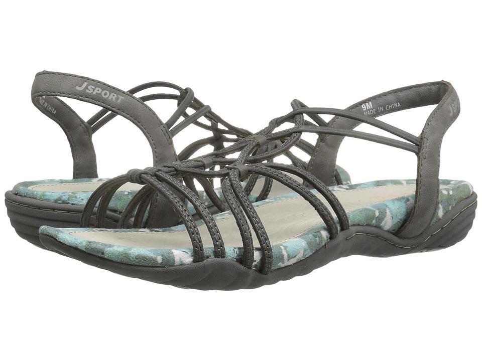 JBU April (Grey Elastic/Vegan) Sandals