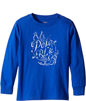 Polo Ralph Lauren Kids - 30/1 Jersey Long Sleeve Graphic Tee (Toddler)